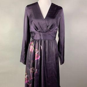 Altuzarra for Target Aubergine Dress with Orchids